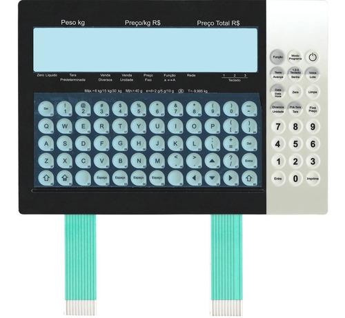 teclado de membrana da balança toledo prix 5 plus preta