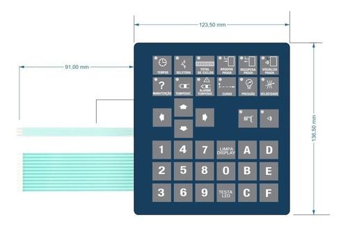 teclado de membrana injetora marca mg tm-0005.00