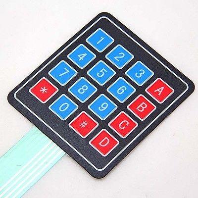 teclado de membrana matricial 4x4 arduino