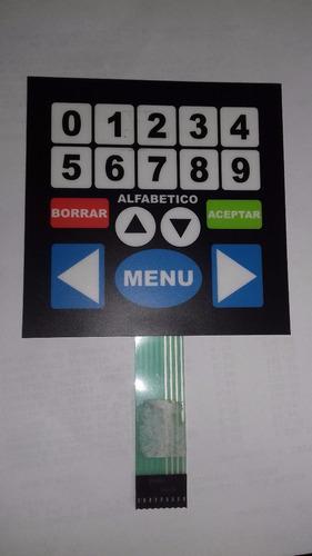 teclado de membrana menú para rockolas digitales