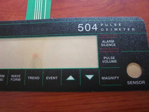 teclado de membranas para criticare system 504 panel frontal
