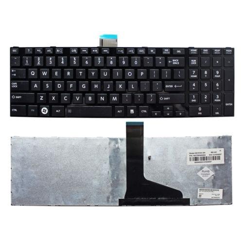 teclado del ordenador portátil u.s. con marco para toshiba c