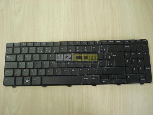 teclado dell inspiron 15r m5010 n5010 padrão br com ç preto
