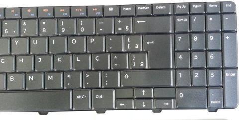 teclado dell inspiron 15r n5010 m5010 padrão abnt br ç novo