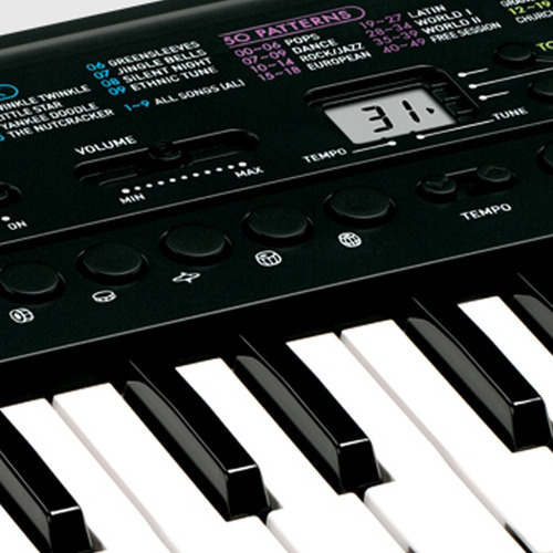 teclado digital infantil casio sa-46 32 teclas 100 timbres verde