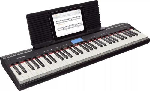 teclado digital roland go piano go61p + 2 brindes incriveis