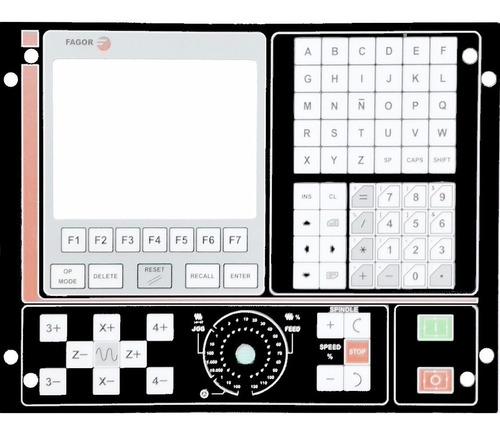 teclado do painel de comando fagor cnc 8025