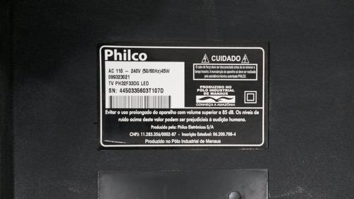 teclado e sensor tv philco ph32f33dg