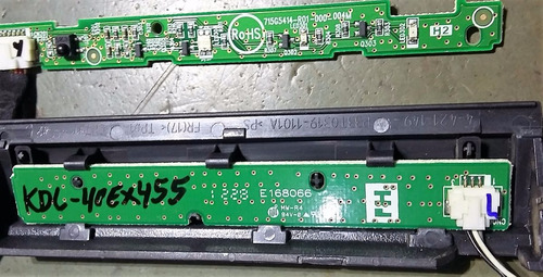 teclado e sensor tv sony kdl-40ex455