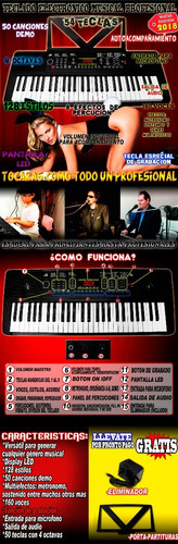teclado electronico musical con salida de audio metronomo