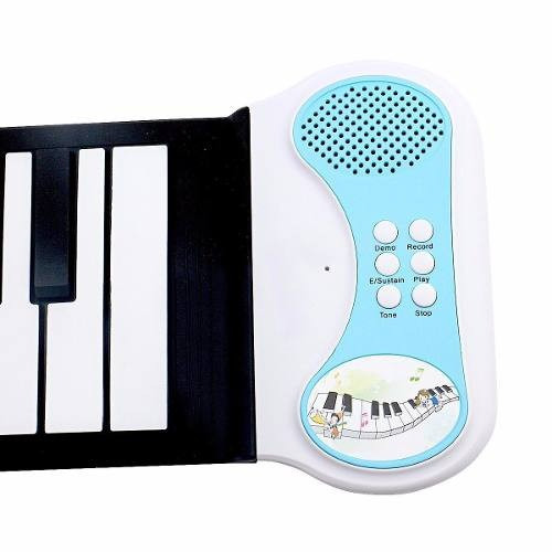 teclado eletronico flexível silicone portátil 49 tecla piano