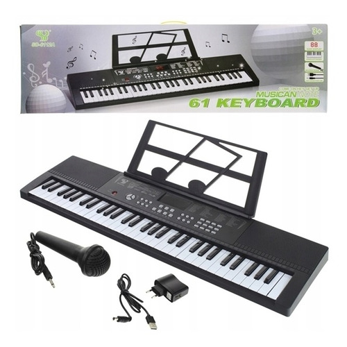 teclado eletronico piano infantil adulto orgao com 61 teclas