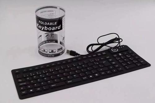 teclado emborrachado silicone borracha usb xz-105