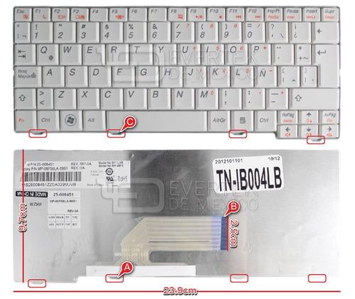 teclado en español (sp) lenovo s10-2 series color blanco