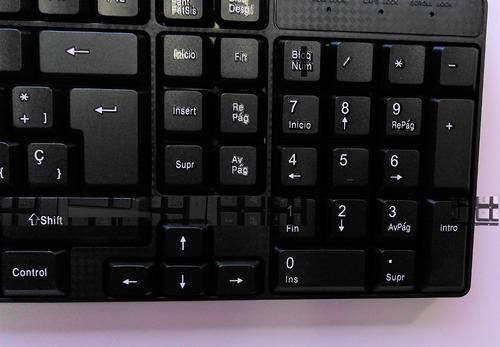 teclado en español usb con teclas multimedia selektro