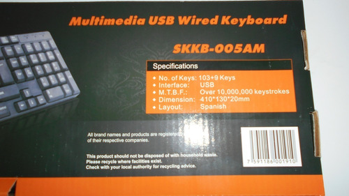 teclado español usb multimedia pc lapto computadora selektro