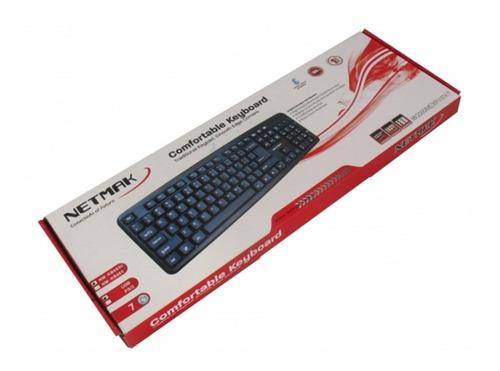 teclado estandar usb nm-kb586 - netmak - aj hogar