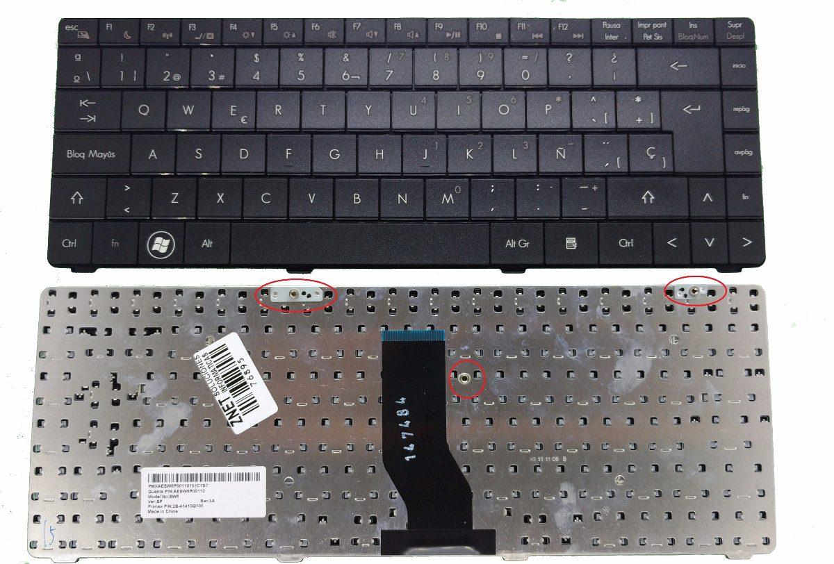 teclado eurocase e4 a4 sw6 sw9 aesw6p00110 2b-4141q100 sp