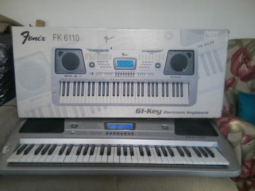 teclado fenix mod fk6110a(seminovo teclas sensitivas) yamaha