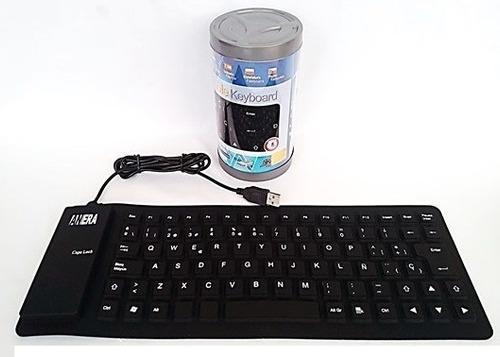 teclado flexible de silicón en español impermeable pc laptop
