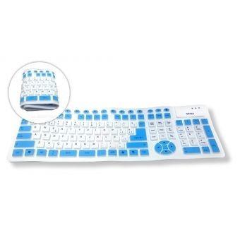 teclado flexible, ergonómico, impermeable, conexión usb