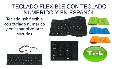 teclado flexible generico xt-109 kontroltek