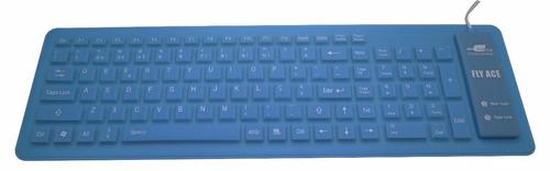 teclado flexível de silicone dobrável usb 104 teclas abn2