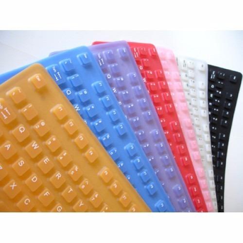 teclado flexível - varias cores - usb - maxprint