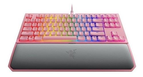 teclado gamer black widow tourn chroma v2 quartz pink razer