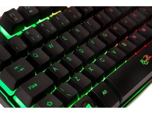 teclado gamer dazz rapid fire revolution, rainbow - 625203