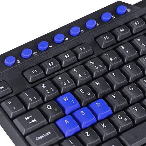 teclado gamer dragon v2 abnt2 1.8m preto com azul - gt102