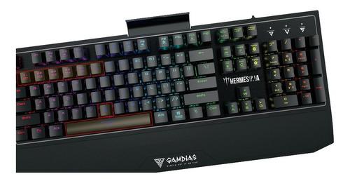 teclado gamer gamdias hermes p1a rgb mecanico