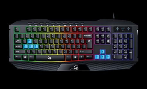 teclado gamer genius gx-gaming k215 c/teclas azules gamer