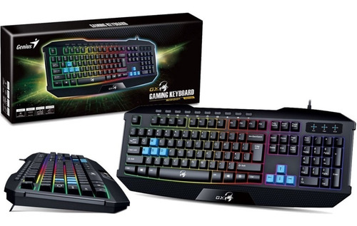 teclado gamer genius gx scorpion k215 gamer retroiluminado