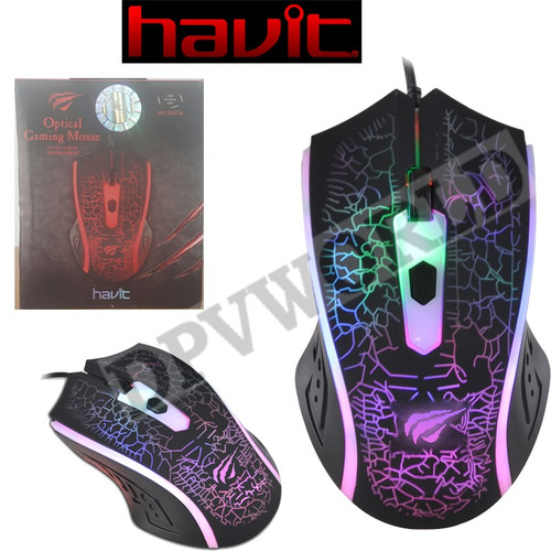 teclado gamer havit kb421l mouse ms736 audifono h2168d luz