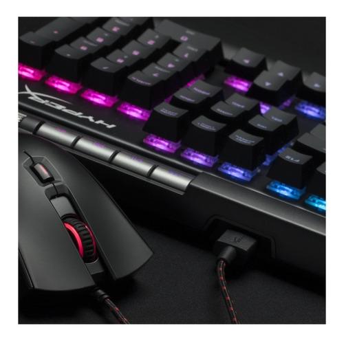 teclado gamer hyperx alloy elite rgb mecanico cherry red pce