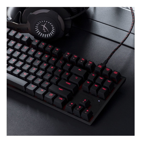 teclado gamer hyperx alloy fps cherry mx blue mecánico pce
