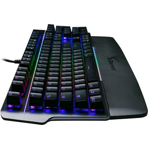 teclado gamer hyperx mars rgb mecânico us - hx-kb3bl3-us/r4
