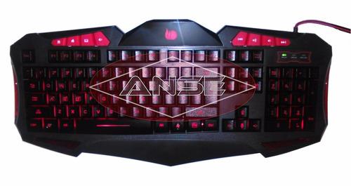 teclado gamer iluminación led 3 colores