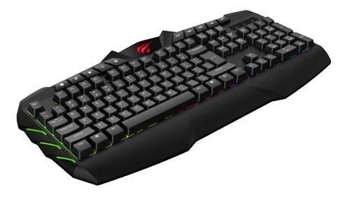 teclado gamer iluminado usb havit kb465l