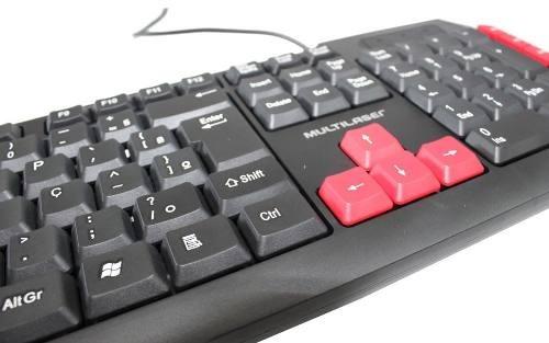 teclado gamer keys multimídia red usb multilaser tc160