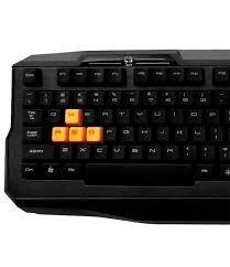 teclado gamer kg-03 bk c3tech, orange