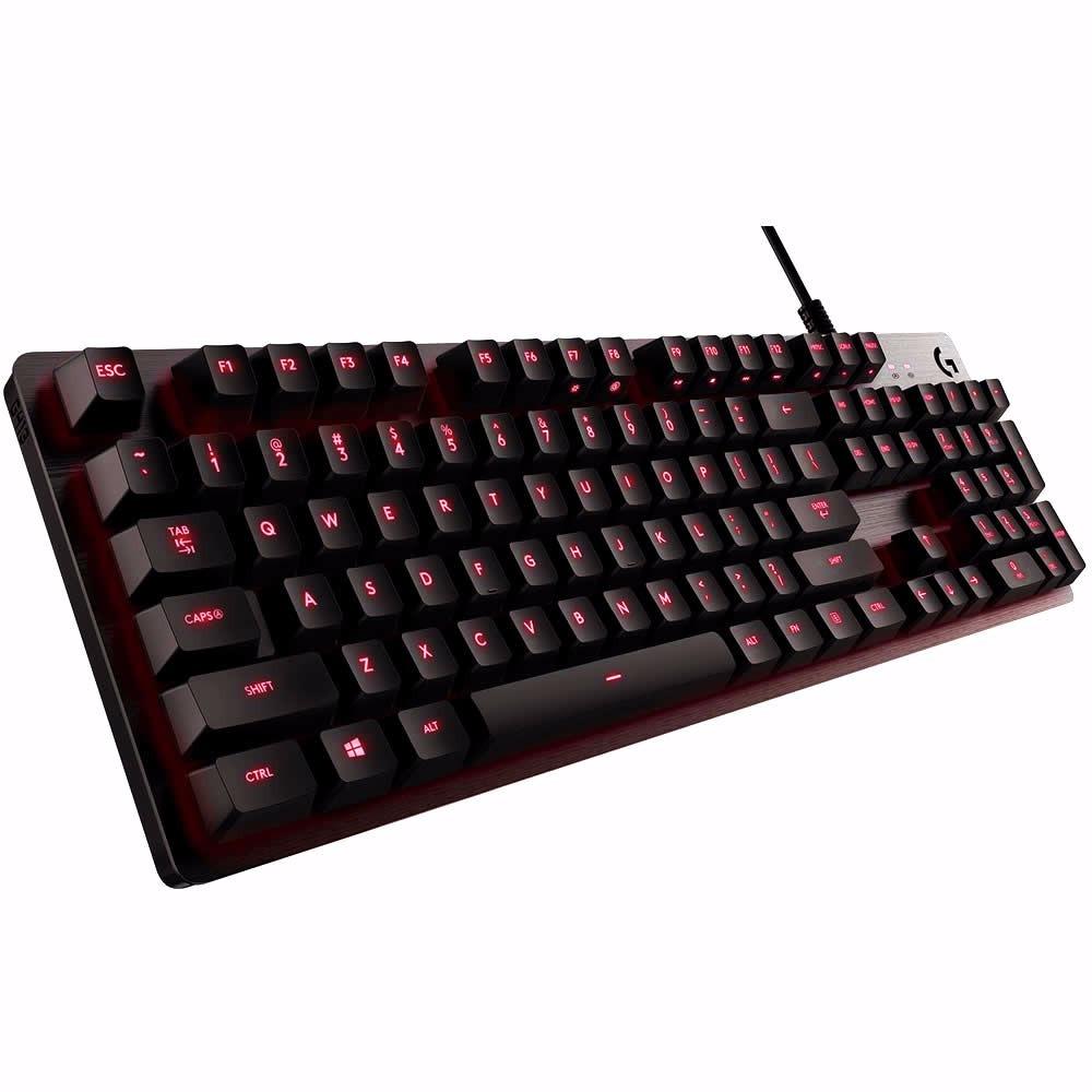 Teclado Gamer Logitech G413 Mecanico Rojo Carbon