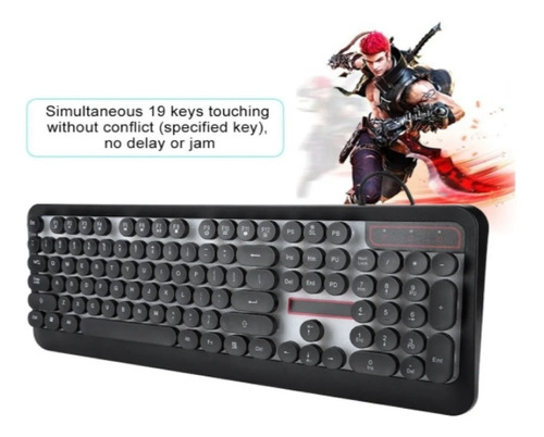 teclado gamer m300 retroiluminado rgb para windows/mac/