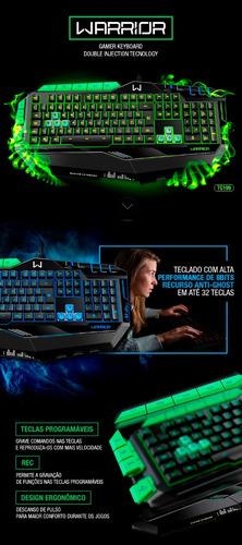 teclado gamer macro led 7 cores anti-ghost multilaser tc199