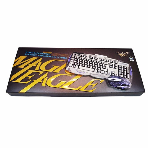 teclado gamer mas mouse havit hv-kb550cm 3 colores con la ñ