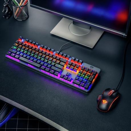teclado gamer mecanico asta gxt 865 - trust