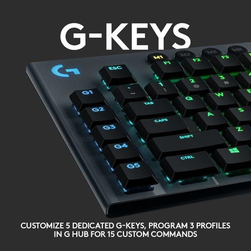 teclado gamer mecánico logitech g g815  - gl tactile