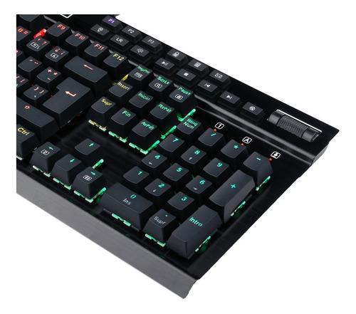 teclado gamer mecánico redragon k550 yama, luces rgb, negro