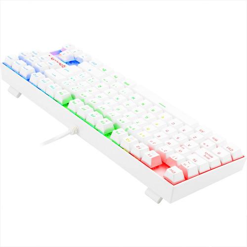 teclado gamer mecánico redragon k552 kumara, iluminación rgb